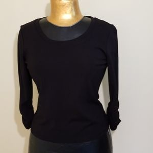 Talbots Boat Neck 3/4 Sleeve Rayon Blend Top